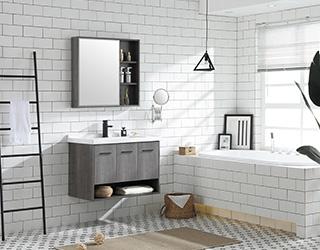 实木浴室柜-18D