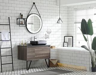 实木浴室柜-19E