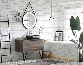 安徽实木浴室柜-19E