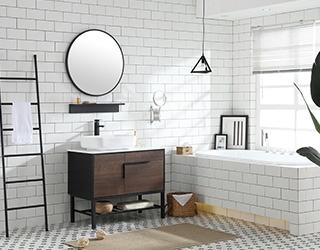 安徽实木浴室柜-836