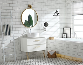 实木浴室柜-1007轻奢