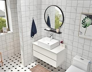 实木浴室柜-1007台上盆